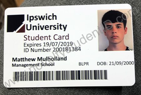 Ipswich Uni fake ID Card Novelty Student ID