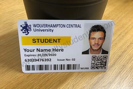 Picture of Fake ID Card for Wolverhampon Met Uni