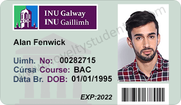 NUI INU Galway student ID card
