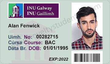 NUI INU Galway student ID card