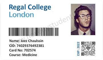 Regal Imperial College student ID card