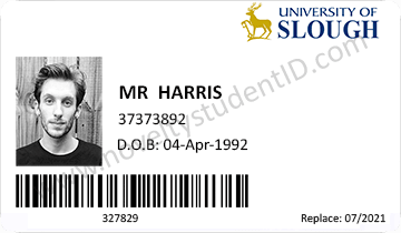 fake student id card front slough surrey