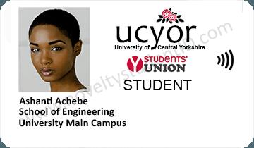 fake ucyor uclan student id card