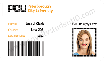 Peterborough student id card