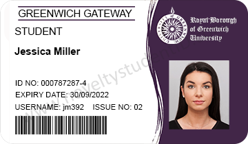 fake novelty student ID Greenwich UK card printed example buy Paypal