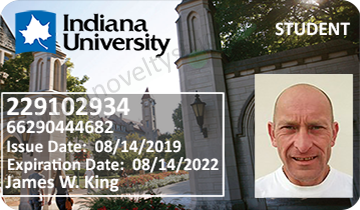 Bloomington Indiana novelty fake student college ID