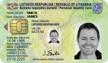 tapatybės kortelė