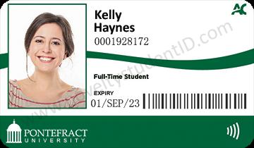 Novelty Student ID pontefract