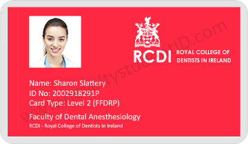 Royal College of Dentists In Ireland ID Card