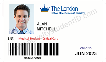 The London School of Dentistry Student Card